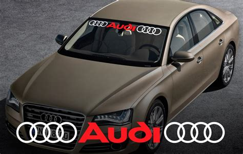 Audi Decals by Audi Windshield Window Front Decal 2 Sticker For A4 A5 A6