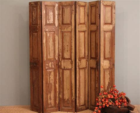 raumteiler faltbar free shipping room divider screen wood folding rustic door