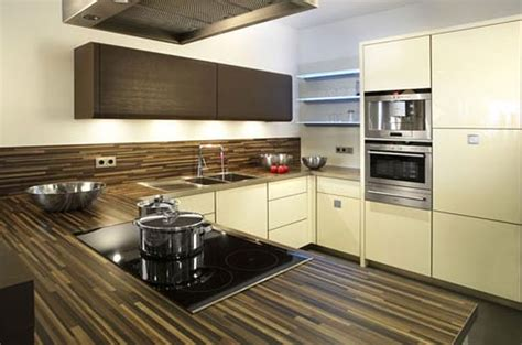 contemporary kitchen countertop material  modern theme