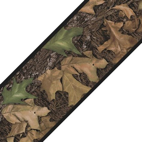 camouflage hunting decor mossy oak camo wall border roll leaves self stick accent