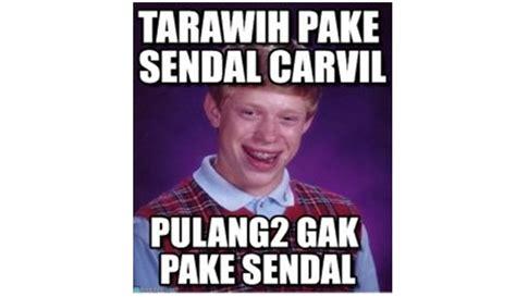 Sendal Tarawih 12 meme sholat tarawih yang akan membuatmu cekikikan