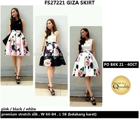 Po Dress Import High Quality Premium A42410 giza skirt supplier baju bangkok korea dan hongkong premium quality import thailand