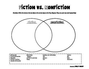fiction nonfiction venn diagram 25 best ideas about fiction vs nonfiction on fiction anchor chart reading anchor
