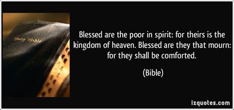quot blessed are the poor bible quotes kingdom of heaven quotesgram