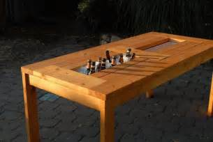 Patio Table With Built In Cooler Diy Patio Table With Built In Wine Coolers The Owner Builder Network