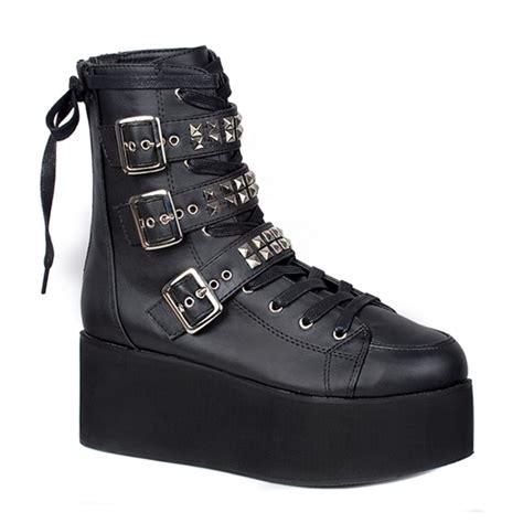 Lace Up Studded Platform Shoes demonia grip 101 studded lace up s platform