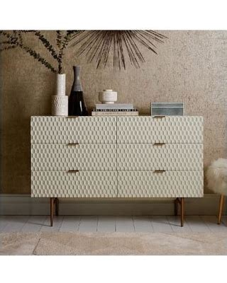 big deal  west elm audrey  drawer dresser parchment