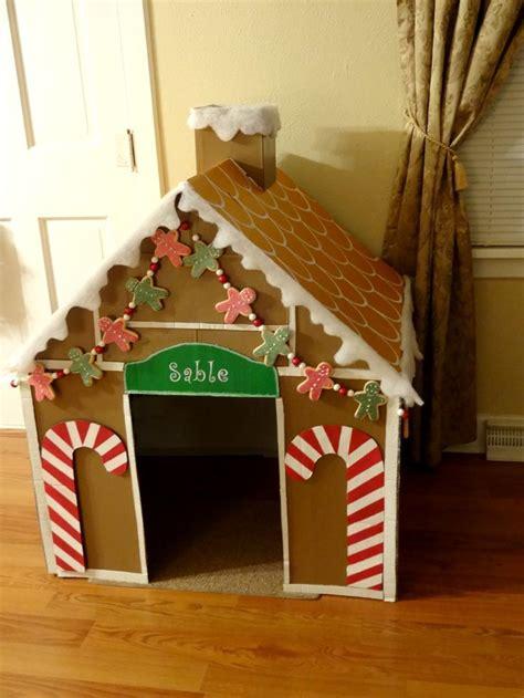 dog gingerbread house diy gingerbread dog house with cardboard christmas