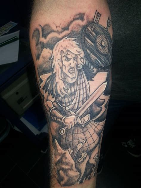scottish warrior tattoos terrific scottish warrior on forearm