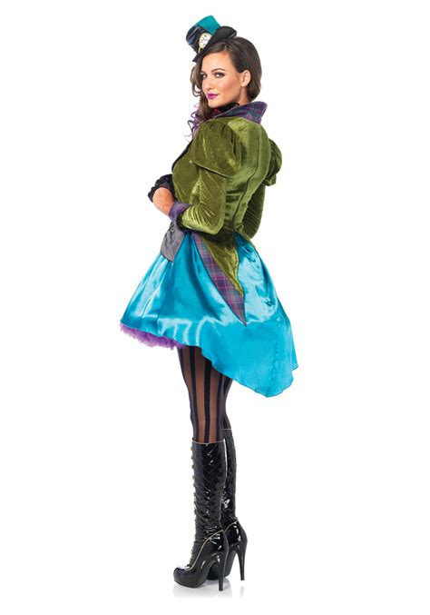 Deluxe Mad Hatter Women's Costume Female Mad Hatter Costume