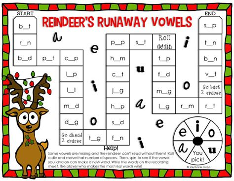 printable literacy board games christmas reading game printable primary theme park