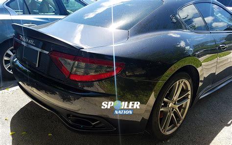 maserati coupe 2012 2012 2017 maserati granturismo coupe aero rear lip spoiler