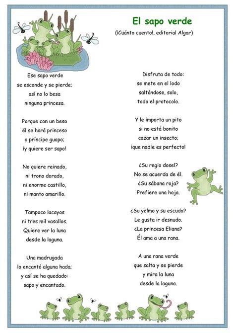 imagenes sensoriales poesia infantil el sapo verde cuentosinfantiles biz