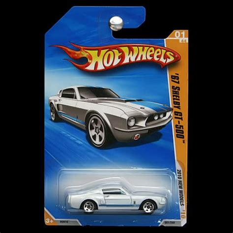 Hotwheels 10 Ford Shelby Gt500 White 2015 wheels 2010 new models 1967 ford mustang shelby gt 500 gt500 white carminiatures