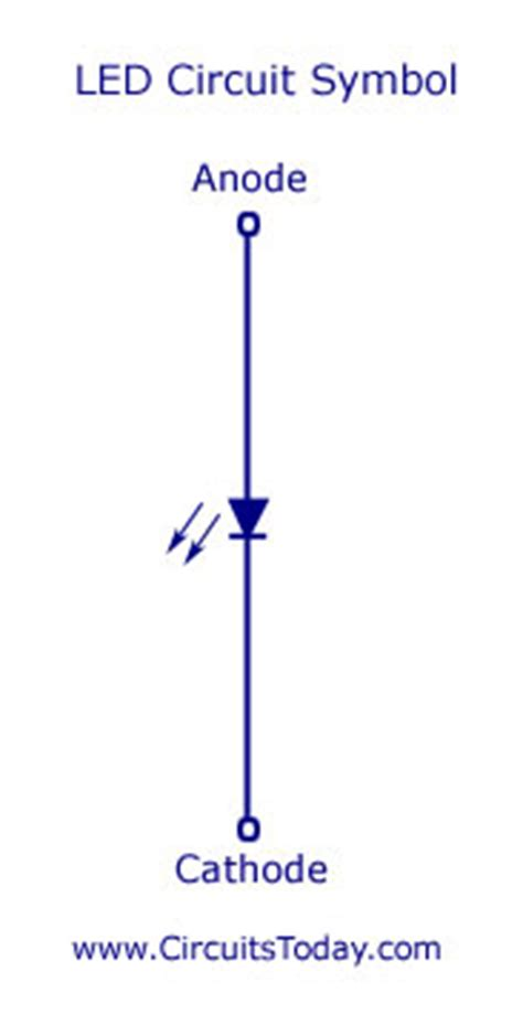 light emitting diode circuit symbol light emitting diode led working circuit symbol characteristics