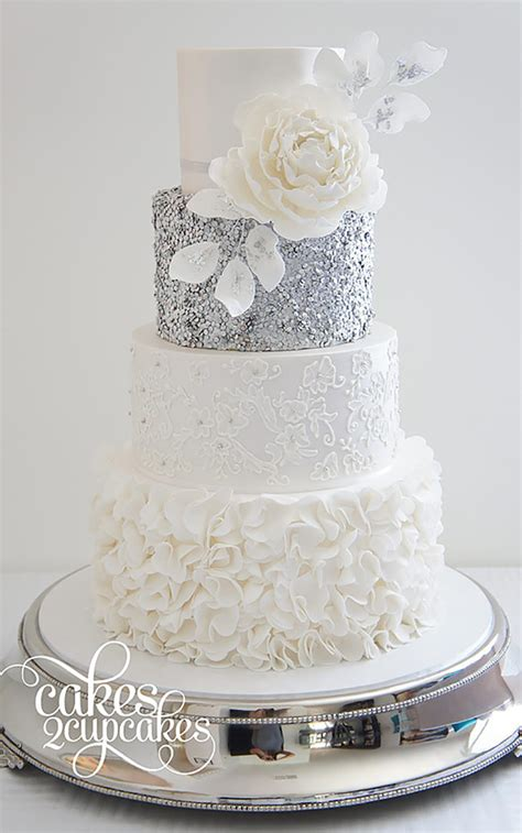 Silver Wedding Cake silver wedding cake decorations wedding ideas by colour