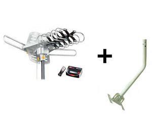 hdtv outdoor the air ota antenna j pole mast mount remote 360 176 150 ebay