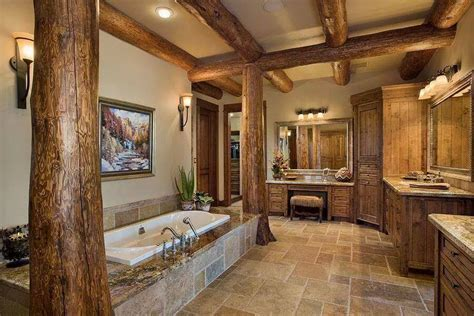 Log Cabin Bathroom by Gorgeous Interior Bathroom 171 The Log Builders
