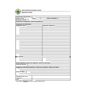 Safety Meeting Sign In Sheet Template by 10 Attendance Sheet Templates Free Word Excel Pdf