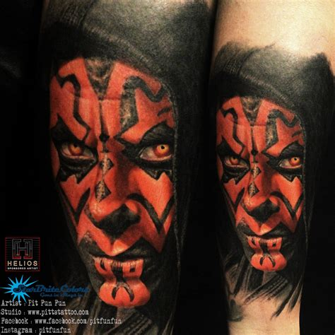 darth maul tattoo pit certified artist