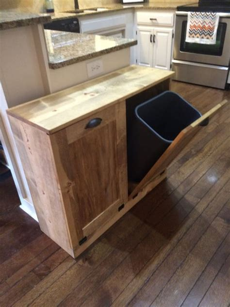 kitchen bin ideas march sale double trash recycle bins rustic tilt out by
