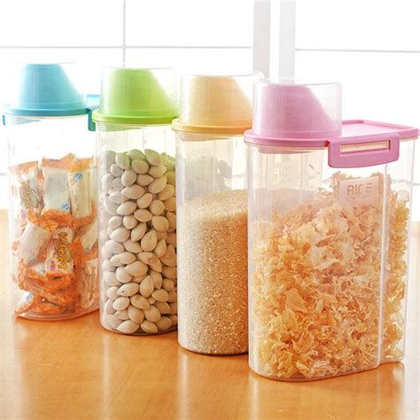 Clear Plastic Kitchen Canisters by Clear Kitchen Storage Canisters