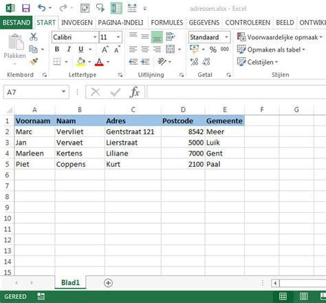 Brief Word Samenvoegen Adressen Excel Gratis Tips Word Adressenbestand Afdrukken Op Etiketten