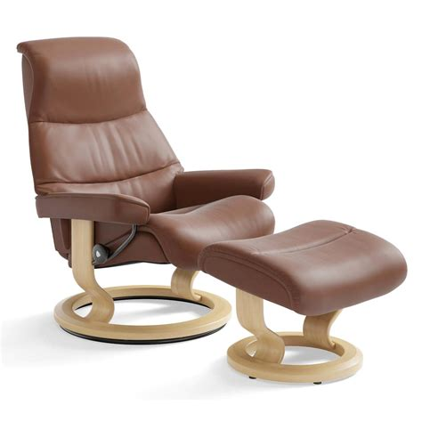 stressless recliner price stressless view classic recliner ottoman from 2 995 00