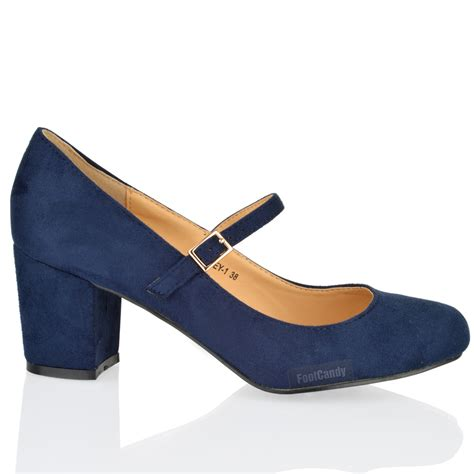 womens mid block heel office formal work