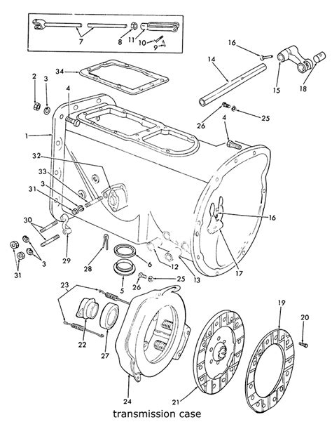 8n ford tractor parts diagram ford 9n 2n 8n transmission clutch related