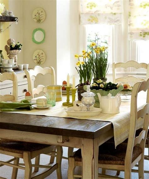 kitchen table decorating ideas 25 ideas for dining room decorating in yelow and green colors