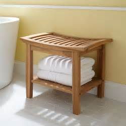 bathroom storage bench elok teak shower seat shower seat and teak