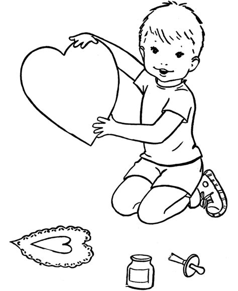 boy valentine coloring page bluebonkers free printable valentine s day hearts