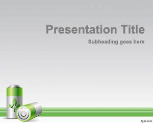 battery powerpoint template free powerpoint templates