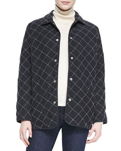 Quilted Barn Jacket by Go Silk Quilted Silk Barn Jacket S