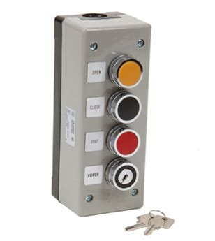 3bxlt Open Close Stop 3 Button Exterior Control Station Outside Garage Door Opener