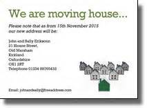 Moving Home Cards Template by Moving Cards Moving House Or Offices