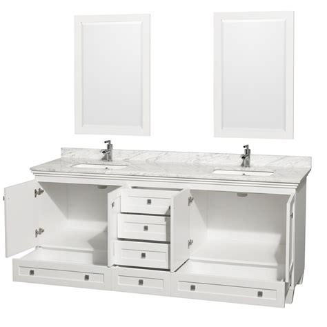 80 Inch Bathroom Vanity Acclaim 80 Quot White Bathroom Vanity Set Wyndham Collection Designer Series By Christopher