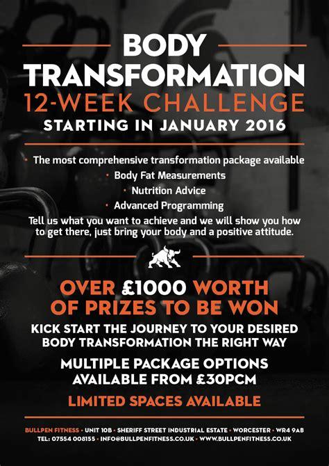 12 week challenge 12 week transformation challenge bullpen fitness