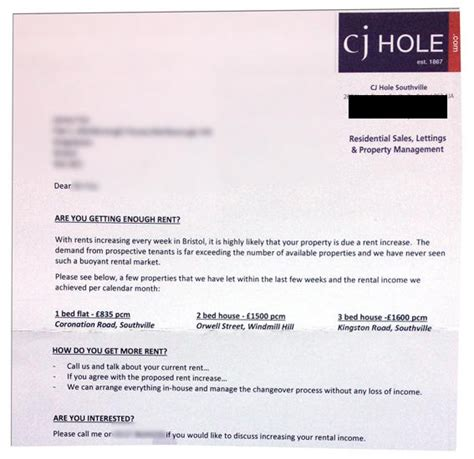 Rent Increase Letter Uk this letter from cj estate agents could explain why