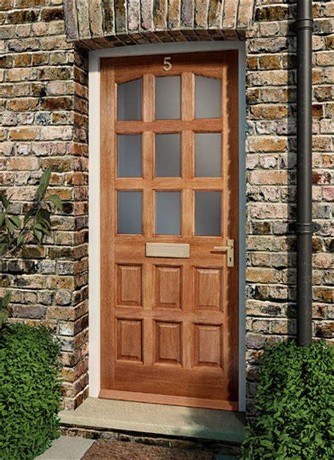 Homeserve Securityhardwood Doors External Doors Wooden Glazed Doors Exterior