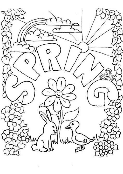 coloring page for spring spring coloring pages best coloring pages for kids