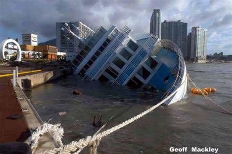 3d boat simulator google earth capsized cruise ship captured in google earth maps
