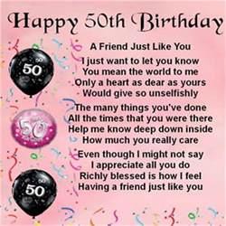 personalised coaster friend poem female 50th