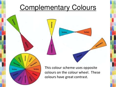 opposite colours colour theory information