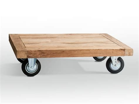coffee table with wheels coffee table on casters move it anytime homesfeed