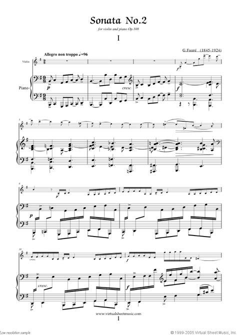 tutorial piano winter sonata faure violin sonata in e minor sheet music for violin
