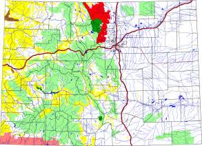 colorado national forests map roosevelt national forest colorado national lands