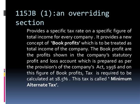 section 115jb corporate tax