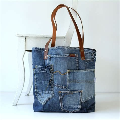 tote bag pattern with lots of pockets denim canvas tote bag with lots of pockets jeans bag by